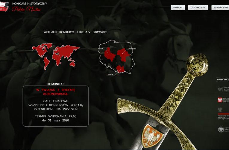 Zapraszamy do udziału w V edycji konkursu historycznego Patria Nostra