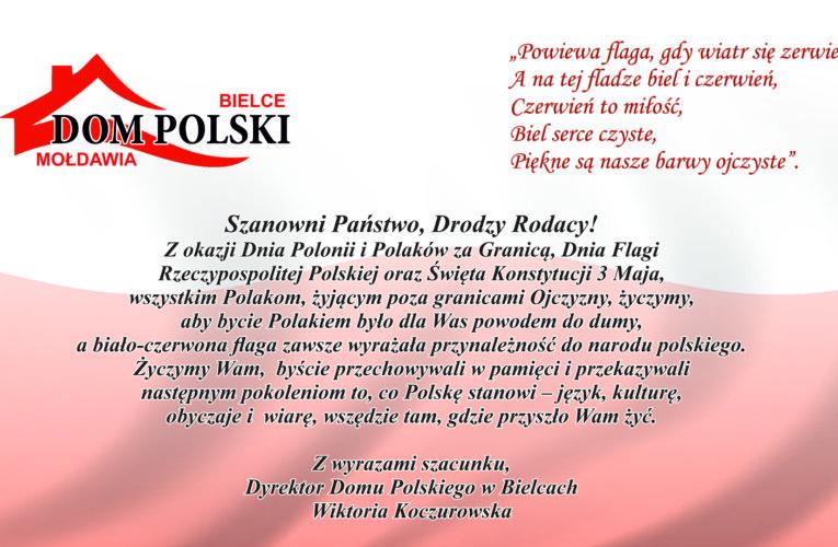 Życzenia dyrektora Domu Polskiego w Bielcach