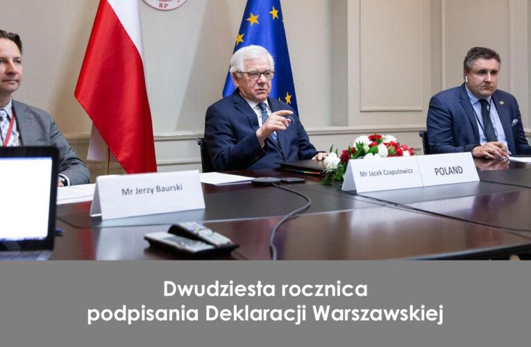Dwudziesta rocznica podpisania Deklaracji Warszawskiej