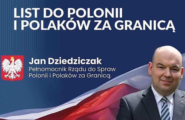 LIST DO POLONII I POLAKÓW ZA GRANICĄ